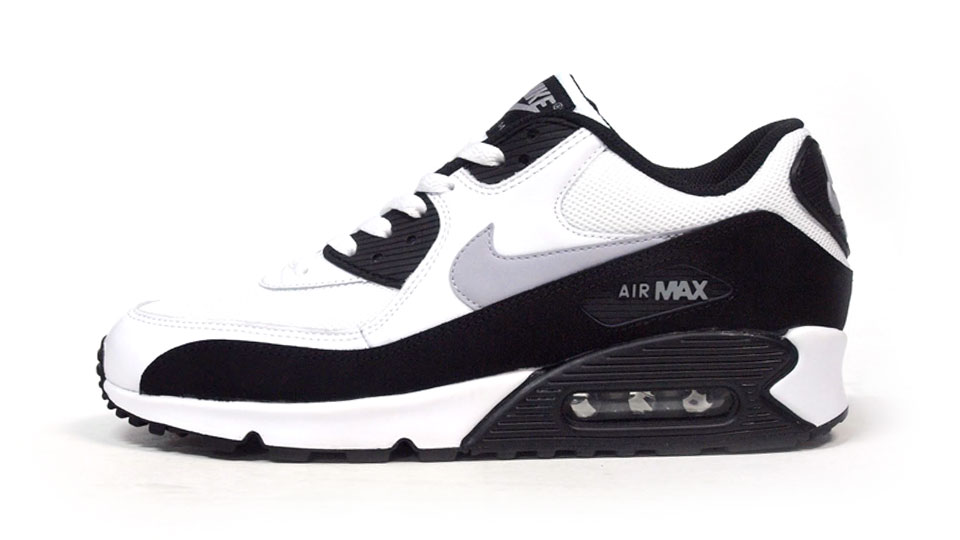 on sale d8b25 6d397 Buty Damskie Nike Air Max 90 Biało-Szaro-Czarne, NIKE AIR MAX 90 ...