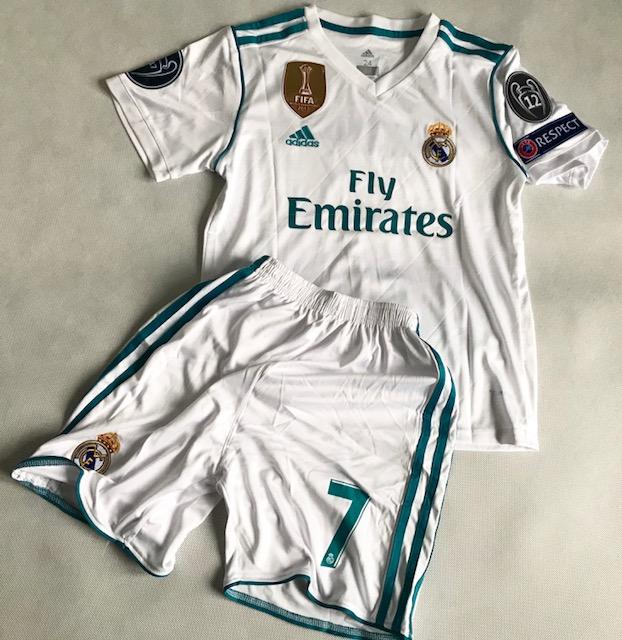 005adc1ba Dziecięcy zestaw piłkarski REAL MADRYT 17/18 ADIDAS (koszulka+spodenki) #7