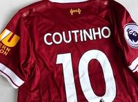 Dziecięcy zestaw piłkarski FC LIVERPOOL NEW BALANCE home 17/18 #10 COUTINHO