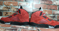 NIKE AIR JORDAN RETRO 5 Raging BULL RED Suede 136027-601