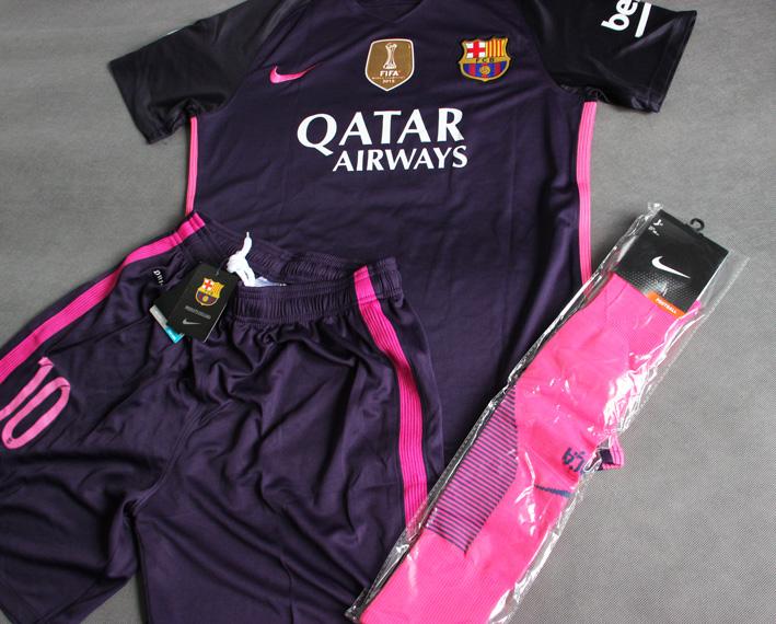 0eecb3757 Zestaw Piłkarski Fc Barcelona Nike 16/17 Away Stadium, #10 Messi ...