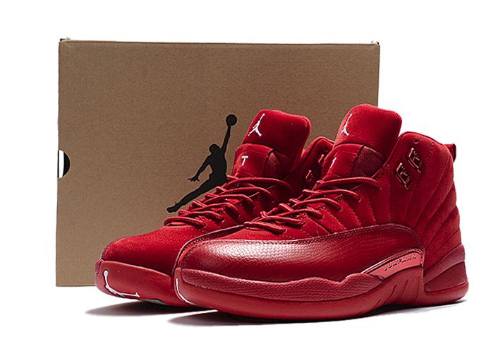new arrival 83376 e01fc Męskie Buty Nike Air Jordan 12 Retro Red Suede, NIKE AIR JORDAN 12 ...