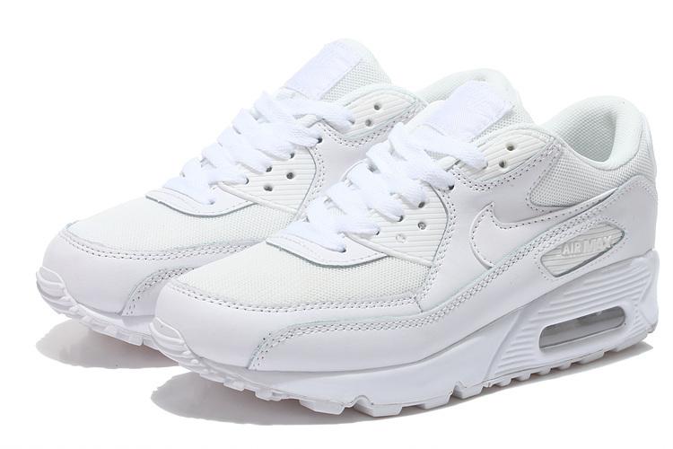 Młodzieńczy Buty Męskie Nike Air Max 90 637384-111 Białe, NIKE AIR MAX 90 Buty WF09