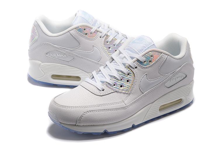 814d138b5fc7f Buty Męskie Nike Air Max 90 Prm 443817-104 Białe Hologram, NIKE AIR ...