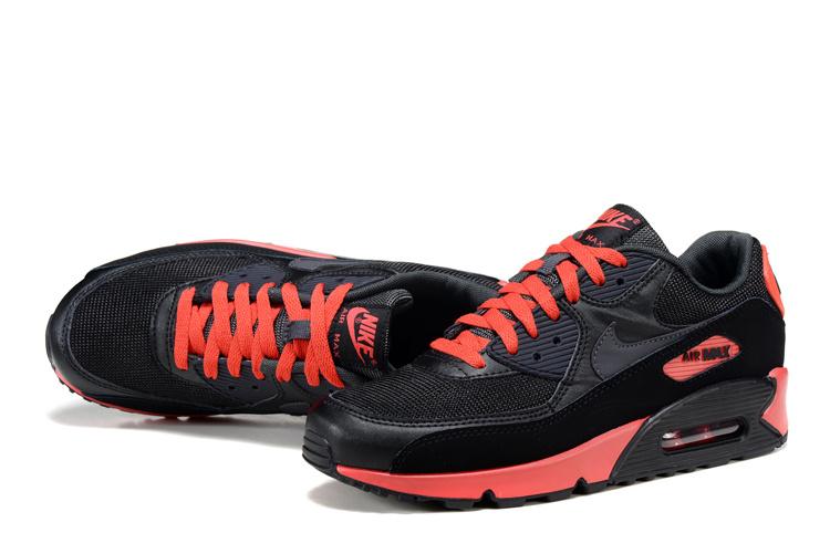 premium selection f823c ab3d8 ... BUTY męskie Nike Air Max 90 537384-016 czarno-czerwone ...