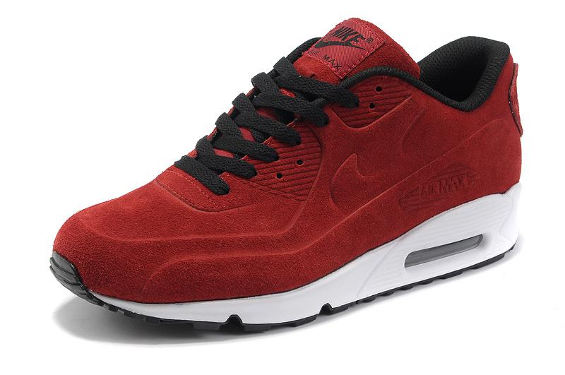 ekskluzywny asortyment konkurencyjna cena Najnowsza Damskie buty NIKE AIR MAX 90 VT PRM 472489-601 czerwone zamszowe