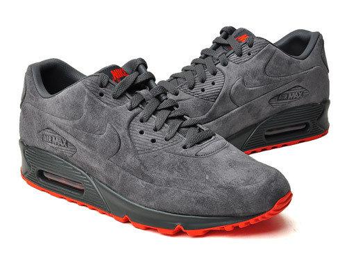 tanie trampki gorąca wyprzedaż najwyższa jakość Damskie buty NIKE AIR MAX 90 VT PRM 472489-001 szare zamszowe