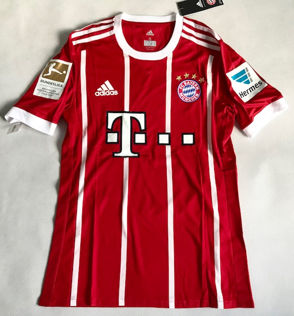 31282f970f2db8 Koszulka piłkarska BAYERN MONACHIUM Authentic Home 17/18 ADIDAS, #9  Lewandowski