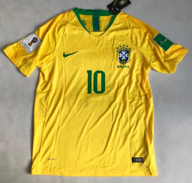 fd096e904 Koszulka Piłkarska Brazylia Nike Vapor Match Home 2018, #10 Neymar Jr.,  KOSZULKI i SPODENKI PIŁKARSKIE Buty Nike, Jordan, Adidas