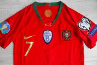 Dziecięcy zestaw piłkarski PORTUGALIA Home 2018 (koszulka+spodenki+getry) #7 Ronaldo