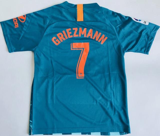 e5df0c42e996d0 Dziecięcy zestaw piłkarski ATLETICO MADRYT 3rd 18/19 NIKE #7 Griezmann ...