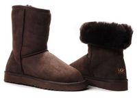 Zimowe buty ŚNIEGOWCE UGG Australia Classic, brązowe , model 5825