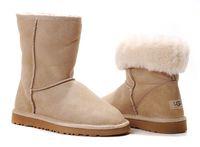 Zimowe buty ŚNIEGOWCE UGG Australia Classic, beżowe , model 5825