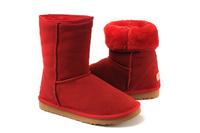 Zimowe buty ŚNIEGOWCE UGG Australia Classic, czerwone , model 5825