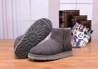 Zimowe buty ŚNIEGOWCE UGG Australia Classic Mini , szare , model 5854