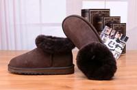 Zimowe buty ŚNIEGOWCE UGG Australia Classic Mini , brązowe , model 5854
