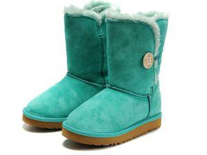 Zimowe buty ŚNIEGOWCE UGG Australia Bailey Button II , niebieskie , model 5803