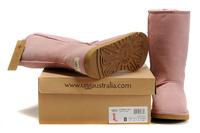 Zimowe buty ŚNIEGOWCE UGG Australia W Classic Tall II , różowe , model 5815