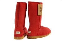 Zimowe buty ŚNIEGOWCE UGG Australia W Classic Tall II , czerwone , model 5815