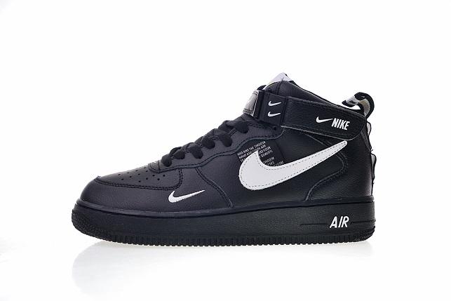 new style a86c0 9f914 Buty Damskie Nike Air Force 1 Mid '07 Lv8 Black Aj7747-001, NIKE AIR ...