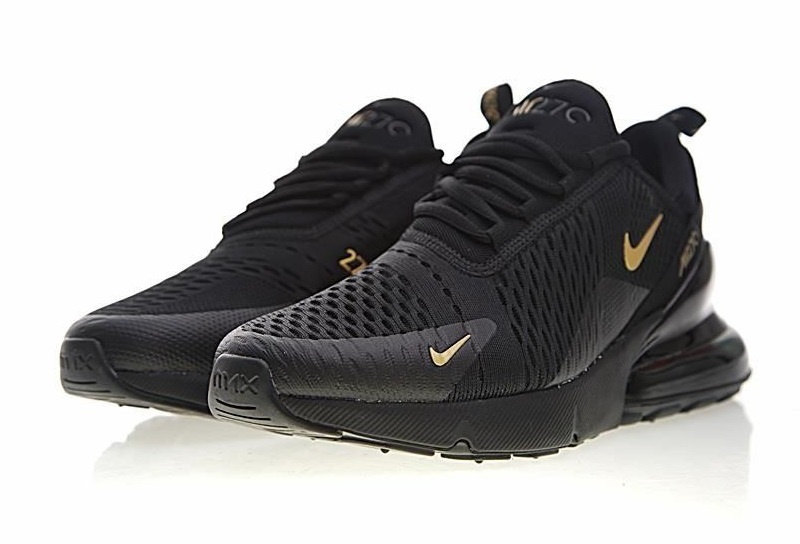 bf28aff083745 Buty Męskie Nike Air Max 270 Ah8050-007 Black-Gold, Nike Air Max 270 ...
