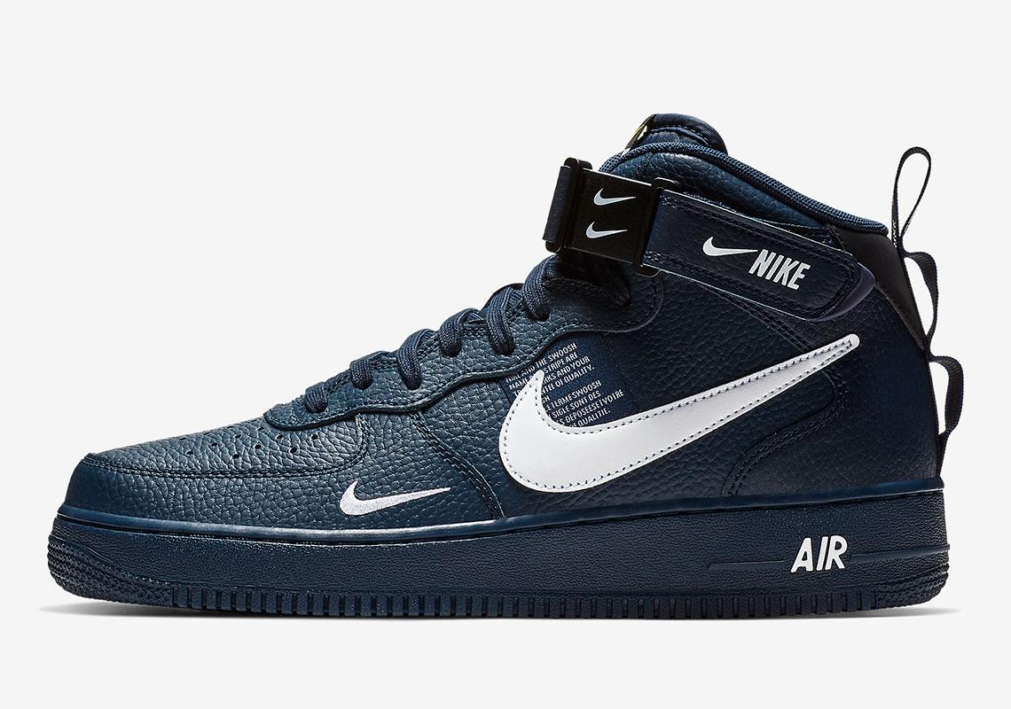 Buty Męskie Nike Air Force 1 Mid '07 Lv8 Navy Blue 804609