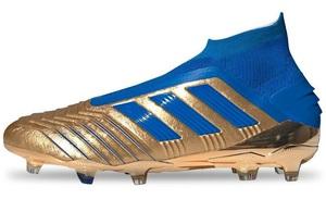adidas Predator 19+ FG Gold Metallic/Blue/White