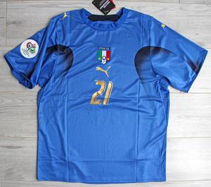 Koszulka piłkarska WŁOCHY Home Retro PUMA World Cup 2006 #21 Pirlo
