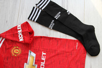 Dziecięcy zestaw piłkarski MANCHESTER UNITED ADIDAS Home 20/21 (koszulka+spodenki+getry) #10 Rashford