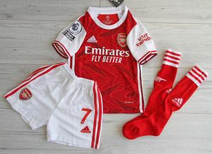 Dziecięcy zestaw piłkarski ARSENAL LONDYN ADIDAS Home 20/21 (koszulka+spodenki+getry) #9 Lacazette