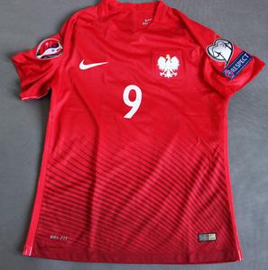 Koszulka piłkarska reprezentacji POLSKI 16/17 Vapor Match Away, #9 Lewandowski