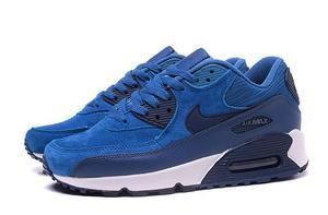 Buty damskie Nike Air Max 90 768887-401 blue suede