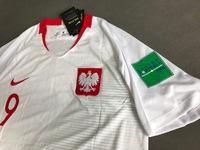 Dziecięcy zestaw piłkarski POLSKA NIKE Home 2018 (koszulka+spodenki) #9 Lewandowski