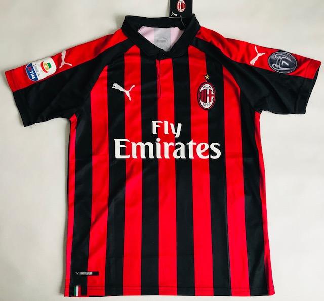 Ogromnie Koszulka Piłkarska Ac Milan Home 18/19 Puma #19 Piątek, Liga SK56