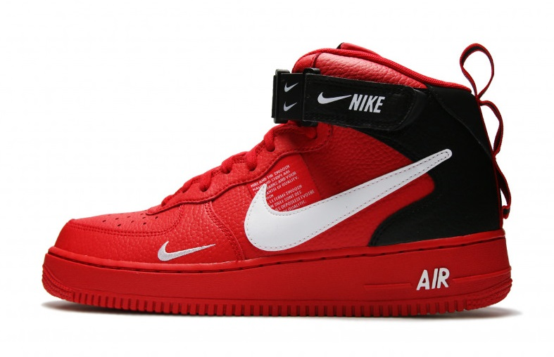 save off dfea6 9ad07 Buty Damskie Nike Air Force 1 Mid '07 Lv8 Red 804609-605, NIKE AIR ...
