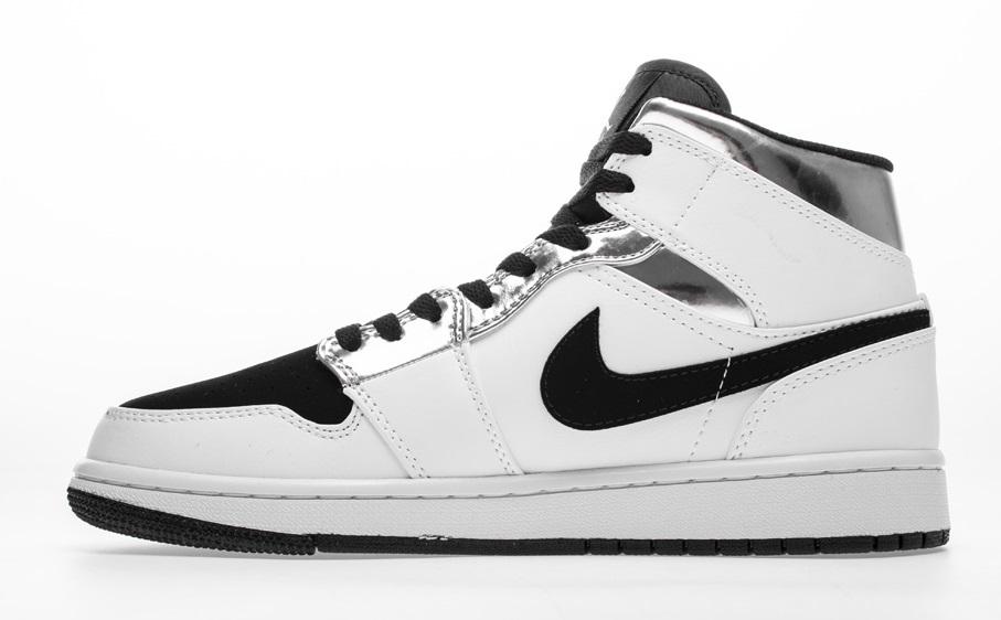 """buty do biegania Najlepsze miejsce online tutaj Buty męskie NIKE AIR JORDAN 1 Mid GS """"white Silver"""" 554724-121"""