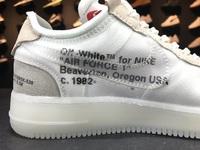 "BUTY męskie OFF-WHITE x Nike Air Force 1 ""White"" AO4606-100"