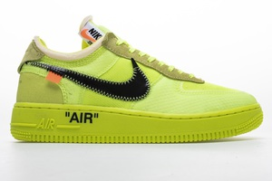 "BUTY męskie OFF-WHITE x Nike Air Force 1 ""Volt"" AO4606-700"