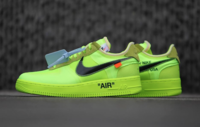 """BUTY damskie OFF-WHITE x Nike Air Force 1 """"Volt"""" AO4606-700"""