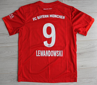 Dziecięcy zestaw piłkarski BAYERN MONACHIUM home 19/20 ADIDAS #9 LEWANDOWSKI