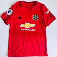 Dziecięcy zestaw piłkarski MANCHESTER UNITED Home 19/20 ADIDAS (koszulka+spodenki+getry)