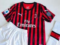 Dziecięcy zestaw piłkarski AC MILAN PUMA home 19/20 (koszulka+spodenki+getry) #9 PIĄTEK