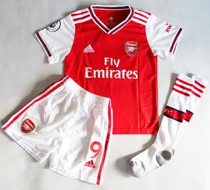 Dziecięcy zestaw piłkarski ARSENAL LONDYN ADIDAS home 19/20 (koszulka+spodenki+getry) #9 LACAZETTE