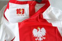 Koszulka piłkarska POLSKA 100 lat PZPN NIKE Vapor Match Home 2019, #9 Lewandowski