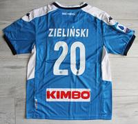 Dziecięcy zestaw piłkarski SSC NAPOLI home 19/20 KAPPA (koszulka, spodenki, getry) #20 ZIELIŃSKI