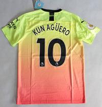 Zestaw piłkarski MANCHESTER CITY PUMA 3rd 19/20 #10 Kun Aguero