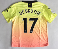Dziecięcy zestaw piłkarski MANCHESTER CITY 3rd 19/20 PUMA (koszulka+spodenki+getry) #17 DE BRUYNE