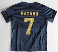 Dziecięcy zestaw piłkarski REAL MADRYT ADIDAS Away 19/20 (koszulka+spodenki+getry) #7 Hazard