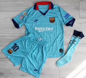 Dziecięcy zestaw piłkarski FC BARCELONA NIKE 3rd 19/20 (koszulka+spodenki+getry) #10 MESSI