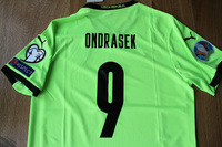 Koszulka piłkarska CZECHY Away Euro 2020 PUMA, #9 Ondrasek